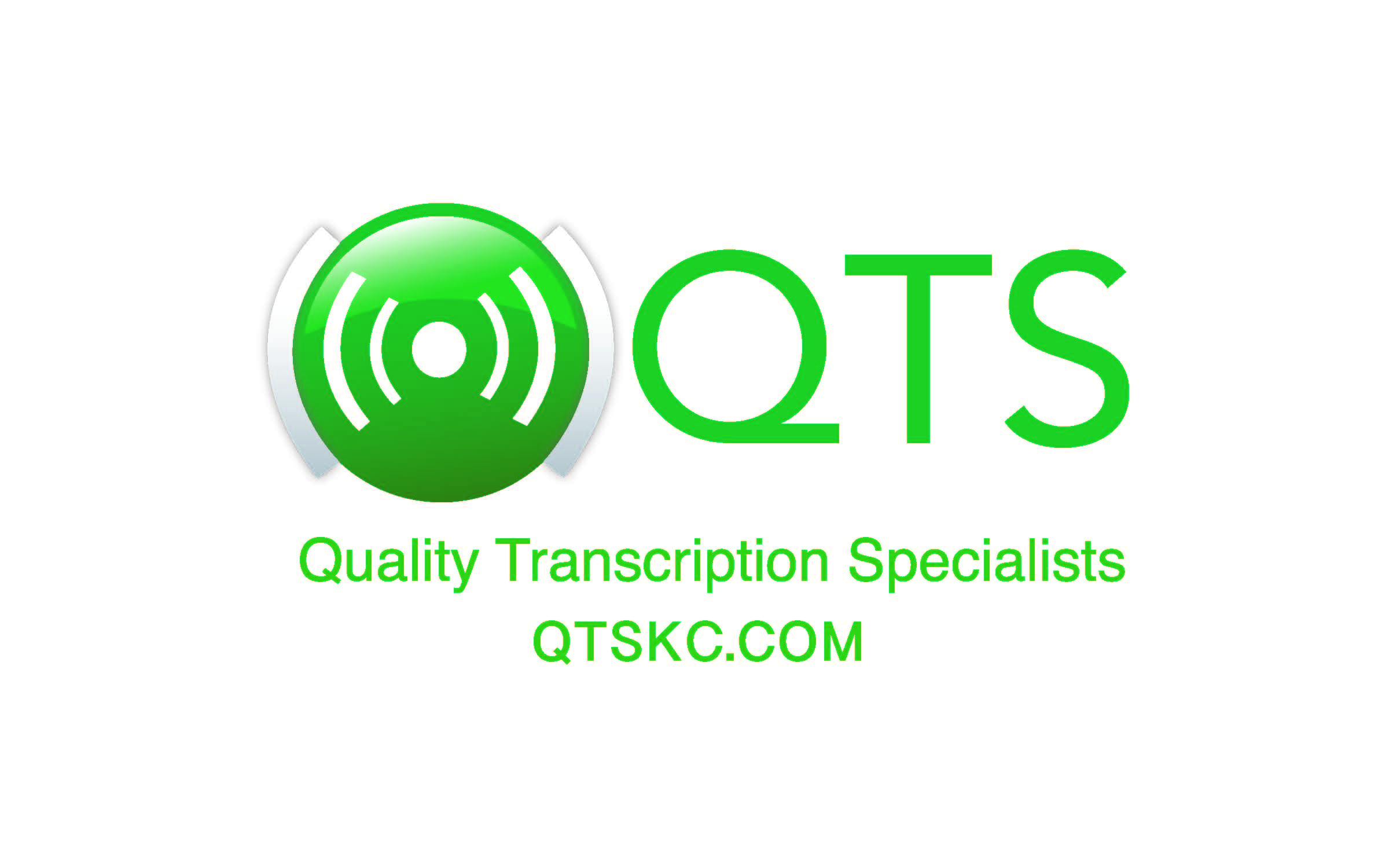 Quality Transcription Specialists logo and link