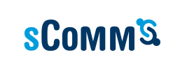 sComm logo and link
